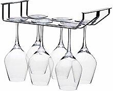 Weinglashalter Wand, 2 Schienen Weinglas Hanger,