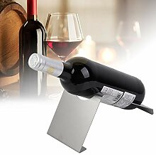 Weinhalter aus Edelstahl, Weinflaschenregal gegen