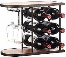 Weinhalter Freistehender Tisch Weinregal | Regal