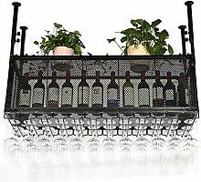Weinhalter Weinregal Metall Wand montiert