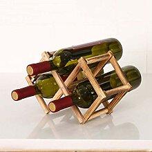 Weinhalter, zusammenklappbar, aus Holz, Weinregal,