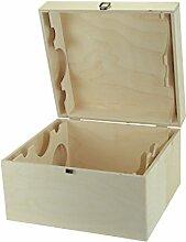 Weinkiste mit Deckel und innen Teilung (Guilliotine) für 6 Weinflaschen - Weinbox - Holzkiste mit Deckel - Geschenkidee - Flaschenkiste
