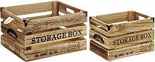 Weinkisten - Dekobox Aufbewahrungsbox Weinkiste - 2er SET