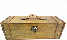 Weinkoffer Transportbox Weinkiste aus Holz Weinverpackung Weinpackung Weinbox Weintruhe Weinbox Holzkiste Wein Rotwein Weißwein Geschenkidee