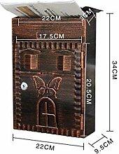 Weinlese-Landhaus-Garten-Briefkasten mit