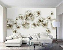 Weinlese Stieg 3D Tapeten -250Cmx180Cm Blumen -