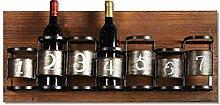 Weinlese-Weinregal der Weinlesepersönlichkeit an