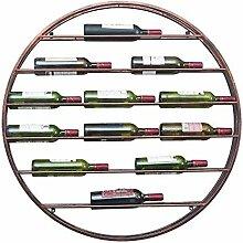 Weinregal 12 flaschen luxus runde eisen kunst