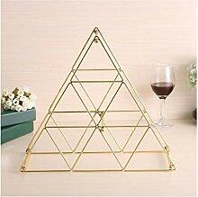 Weinregal abnehmbare Eisen Weinregal Pyramide