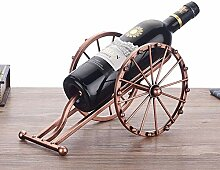 Weinregal Antike Eisen-Kunst-Kanone Modell