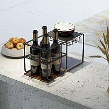 Weinregal-Arbeitsplatte, 4 Flaschen Halten Und 4
