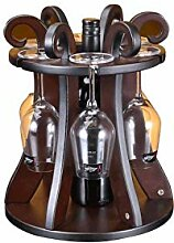 Weinregal, Arbeitsplatte Aus Holz Weinflasche Und