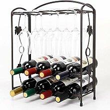 Weinregal Arbeitsplatte Metall Weinhalter halten 8