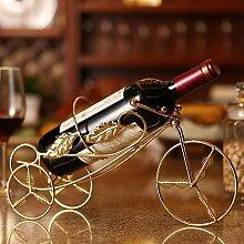 Weinregal aus Edelstahl mit 3 Rädern, kreatives