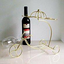 Weinregal aus Eisen, klein, modisch, kreatives