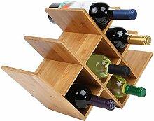 Weinregal Aus Hochwertigem Bambus Flaschenhalter