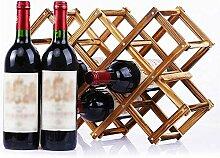 Weinregal aus Holz 10 Flaschen Kapazität
