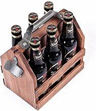 Weinregal aus Holz 6er-Pack Wein Bier