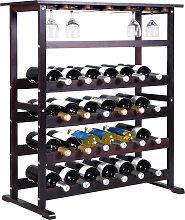 Weinregal aus Holz Flaschenregal Weinständer 24