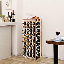 Weinregal aus Holz Flaschenregal Weinständer 44