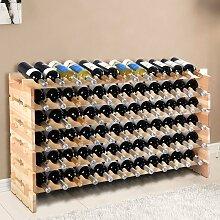 Weinregal aus Holz Flaschenregal Weinständer 72