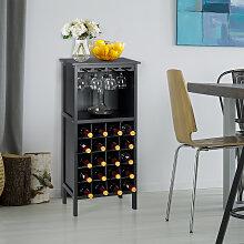 Weinregal aus Holz Flaschenregal Weinständer