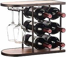 Weinregal aus Holz für Flaschen, 3 Ebenen, zur