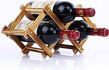 Weinregal aus Holz klappbar für Weinliebhaber und