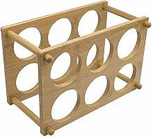 Weinregal aus Holz mit 6 Fächern, Flaschenhalter,