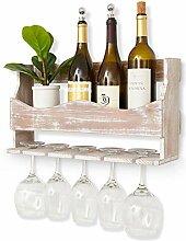 Weinregal aus Holz, rustikal, Braun