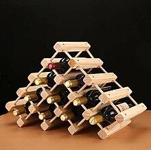 Weinregal Aus Holz, Stapelbares Weinflaschenregal