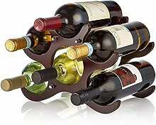 Weinregal aus Holz, Weinhalter für 6 Flaschen,