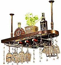 Weinregal aus Holz zur Wandmontage | Flaschen- &