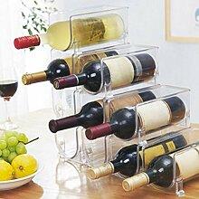 Weinregal aus Kunststoff für Flaschen, Weinregal,