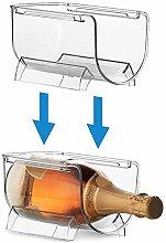 Weinregal aus Kunststoff, transparent, stapelbar,