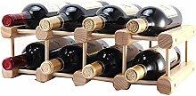 Weinregal aus massivem Holz für Flaschen und