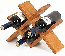 Weinregal aus massivem Holz, für Weinflaschen,