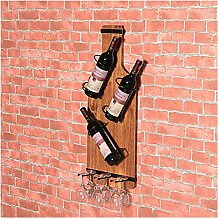 Weinregal aus massivem Holz Wandregal für