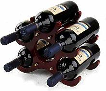 Weinregal aus Massivholz, für 6 Flaschen,