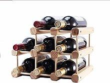 Weinregal aus Massivholz für Weinregal,