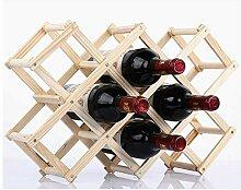 Weinregal aus Massivholz Weinflaschenhalter aus