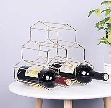 Weinregal aus Metall, dekorative Weinregal, für