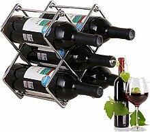 Weinregal aus Metall, für 6 Flaschen, modernes