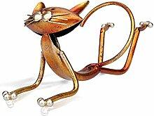 Weinregal aus Metall mit Katzen-Design,