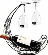 Weinregal aus Schmiedeeisen, für 1 Flasche, für