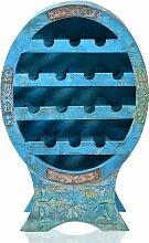 Weinregal BLUE Regal Vintage Holz blau