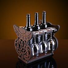 Weinregal Dekoration aus Holz Weinregal