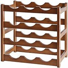 Weinregal, Dickerer Bambus-Holzmaterialien,