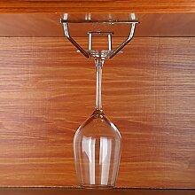 Weinregal Edelstahl-Glas-Aufhänger, Glas-Halter, Glas-Rack, Stemware Rack, Weinglas Rack, Champagner Glas Rack Silber ( größe : 50CM rows )