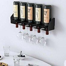 Weinregal Einfaches Wand-Weinregal zur Wandmontage